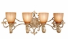 Vaxcel Lighting (EP-VLD004) Empire 4 Light Vanity Light Phoenician Platinum
