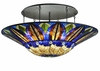 Floral Art Glass Contemporary 60 Inch Tampa Bay Semi-Flushmount by Meyda Lighting