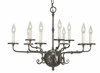 Framburg Lighting (2379) Nine Light Chandelier from the Jamestown Collection