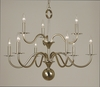 Framburg Lighting (2249) Nine Light Chandelier from the Jamestown Collection