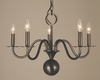 Framburg Lighting (2245) Five Light Chandelier from the Jamestown Collection