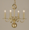 Framburg Lighting (2244) Four Light Chandelier from the Jamestown Collection