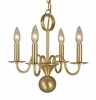 Framburg Lighting (2244) 4-Light Jamestown Mini Chandelier