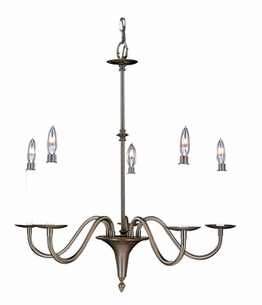 Framburg Lighting (9225) Five Light Chandelier from the Jamestown Collection