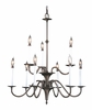 Framburg Lighting (9229) Nine Light Chandelier from the Jamestown Collection