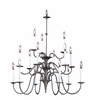 Framburg Lighting (9235) Fifteen Light Chandelier from the Jamestown Collection