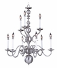 Framburg Lighting (9129) Nine Light Chandelier from the Jamestown Collection