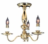 Framburg Lighting (9133) Three Light Semi-Flush Mount from the Jamestown Collection