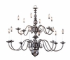 Framburg Lighting (9135) Fourteen Light Chandelier from the Jamestown Collection