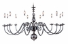 Framburg Lighting (9142) Twelve Light Chandelier from the Jamestown Collection