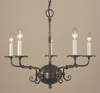 Framburg Lighting (2375) Five Light Chandelier from the Jamestown Collection