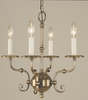 Framburg Lighting (2374) Four Light Chandelier from the Jamestown Collection