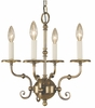 Framburg Lighting (2374) 4-Light Jamestown Mini Chandelier