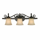 Golden Lighting Belle Meade 3 Light Vanity in Rubbed Bronze Finish 4074-3-RBZ