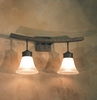 Leya Bath Light shown in Cajun Spice by 2nd Avenue Lighting