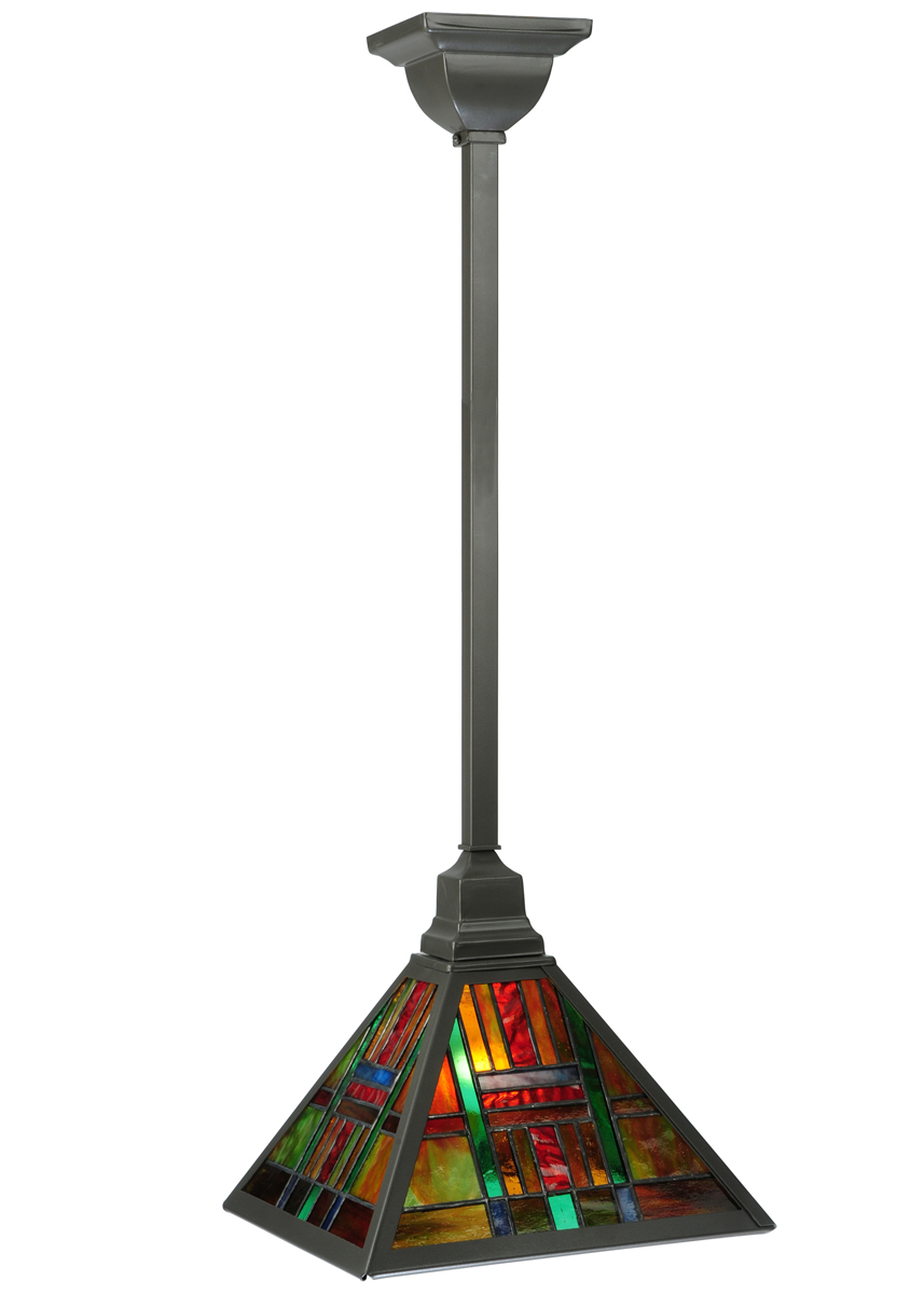 "Meyda Tiffany (125894) 10.75""Sq Hausman Mission Pendant"