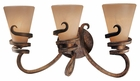 Minka Lavery (6763-211) Tofino Collection 3 Light Bath Vanity Fixture shown in Tofino Bronze