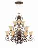 Montreaux 3 Tier Chandelier, w/10' chain  From Designers Fountain - 815812-BWG