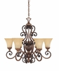Montreaux 6 Light chandelier From Designers Fountain - 81586-BWG
