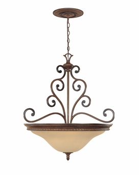 "Montreaux Inverted Pendant  31"", with 10' chain  From Designers Fountain - 81533-BWG"