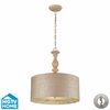 Elk Lighting (14161/3-LA) Nathan 3 Light Pendant in Washed Pine Finish