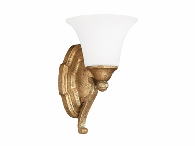 The Blakely Collection 1 Light Vanity Fixture shown in Antique Gold by Capital Lighting