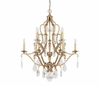 The Blakely Collection 10 Light Chandelier With Crystals Included shown in Antique Gold by Capital Lighting
