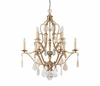 The Blakely Collection 10 Light Chandelier With Painted Crystals Included shown in Antique Gold by Capital Lighting