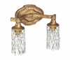 The Blakely Collection 2 Light Vanity Fixture shown in Antique Gold by Capital Lighting