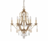 The Blakely Collection 6 Light Chandelier With Painted Crystals Included shown in Antique Gold by Capital Lighting