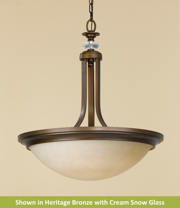Youngstown Collection 1 Light Uplight Chandelier from Murray Feiss Lighting -FES1201