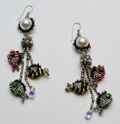 """NEW! """"Out for a Swim"""" Earrings"""