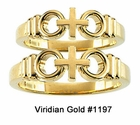 "10K Gold ""Joined by Christ�"" Wedding Rings #1197"