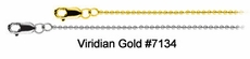 "1mm Solid Bead Chains in Yellow or White Gold, 16"" - 24"" #7134"