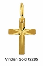 Child's Gold Cross with Star Necklace #2285