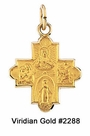 Child's Gold Four-Way Cross Necklace #2288