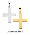 Child's Gold Greek Cross Necklace #2016