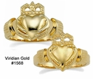 10K Gold Claddagh Wedding Rings #1568