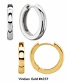Gold Hinged Huggie Earrings in Singles or Pairs #4237