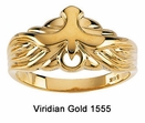 10K Gold Holy Spirit Dove Ring #1555
