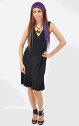 Annee Matthew Carmen Black Maternity/Nursing Dress<br>(large)