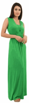 Annee Matthew Diana Maxi Maternity and Nursing Dress - Green