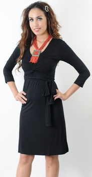 Annee  Matthew Giselle Maternity/Nursing Dress - Black or Espresso