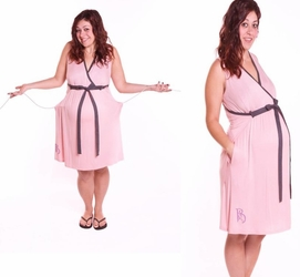 Birthing Gown Hospital Nursing and Delivery Gown - Blush