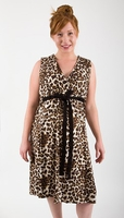 "BirthingGown Leopard Print Hospital Delivery Gown / Nursing Gown<br><i>(As seen on Nicole ""Snooki"" Polizzi)</i>"