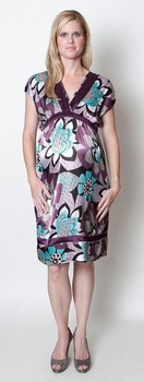 Everly Grey Mia Dress - Crushed Violets<br>CLEARANCE