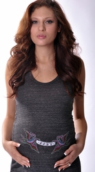 Hot Mama Ink Baby Banner Birds Eco-Friendly Maternity Tank Dress - Sold Out