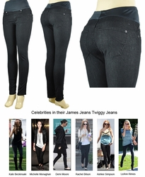 James Jeans Twiggy Maternity Jean Leggings - Black Cat