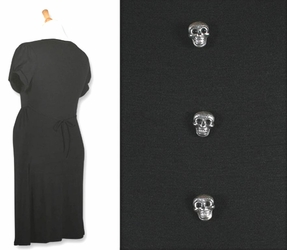 Mamasan Antique Skulls Goth Maternity Dress