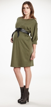 Maternal America Dolman Sleeve Maternity Dress with Belt